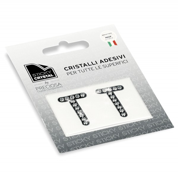 STICKY CRYSTAL® COLLECTION LETTERA T
