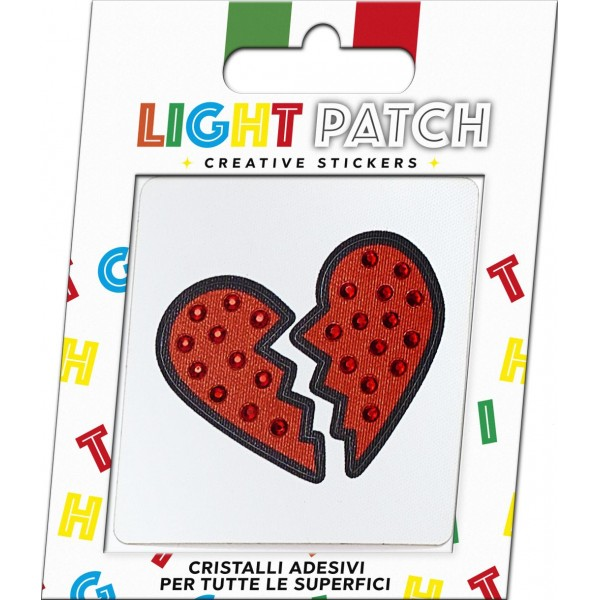 Light Patch Cuore Spezzato Sticker Cristalli Light Siam