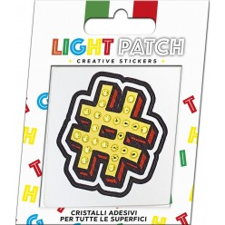 Light Patch Hashtag Sticker Cristalli Citrine