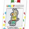 Light Patch Pappagallo Sticker Cristalli Jonquil
