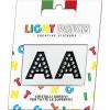 Light Patch Lettere AA Sticker Cristalli Nero Cry