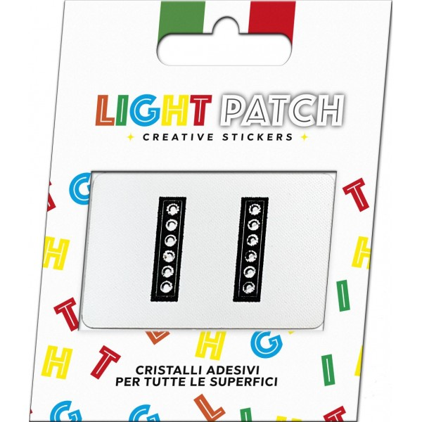 Light Patch Lettere II Sticker Cristalli Nero Cry