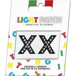 Light Patch Lettere XX Sticker Cristalli Nero Cry