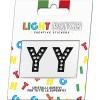 Light Patch Lettere YY Sticker Cristalli Nero Cry