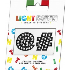 Light Patch Simboli Sticker Cristalli Nero Cry
