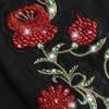 giacca donna chiodo eco-pelle flowers e cristalli