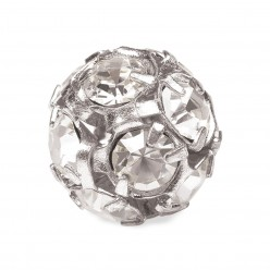 PRECIOSA CRYSTAL-BALL-Pack 5-PIECE SILVER MM10