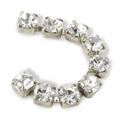 CATENA METALLO SS18 (4,5mm) CRYSTAL-ARGENTO-1MT